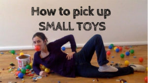 how to pick up small toys